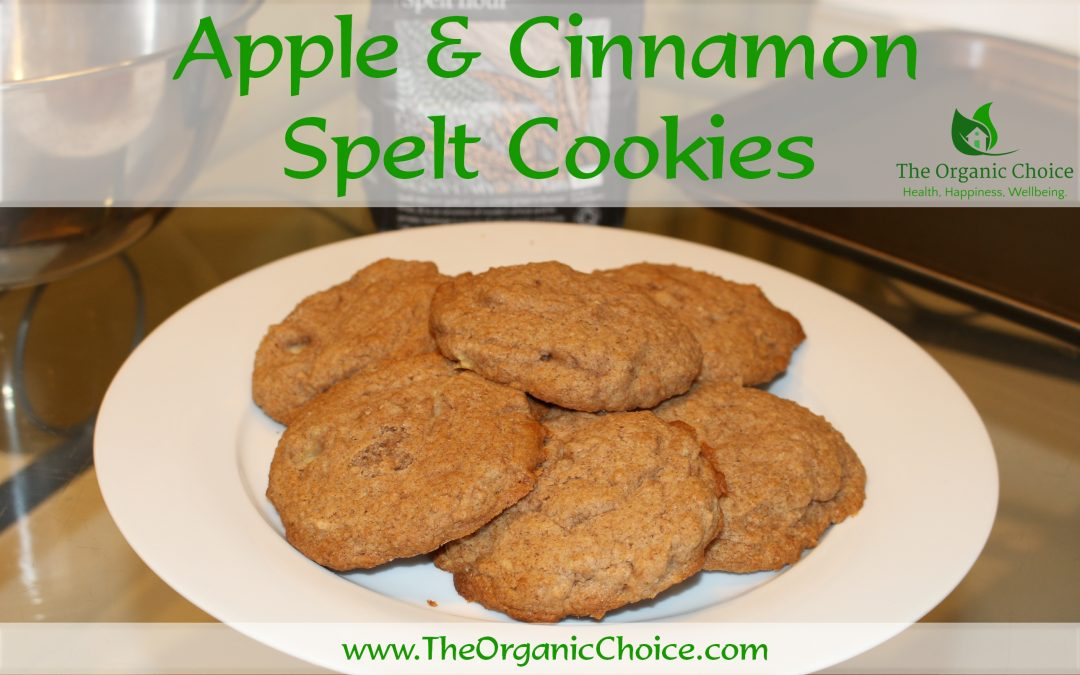 Organic Apple & Cinnamon Spelt Cookie Recipe: Healthy, Easy to Make and Tasty!